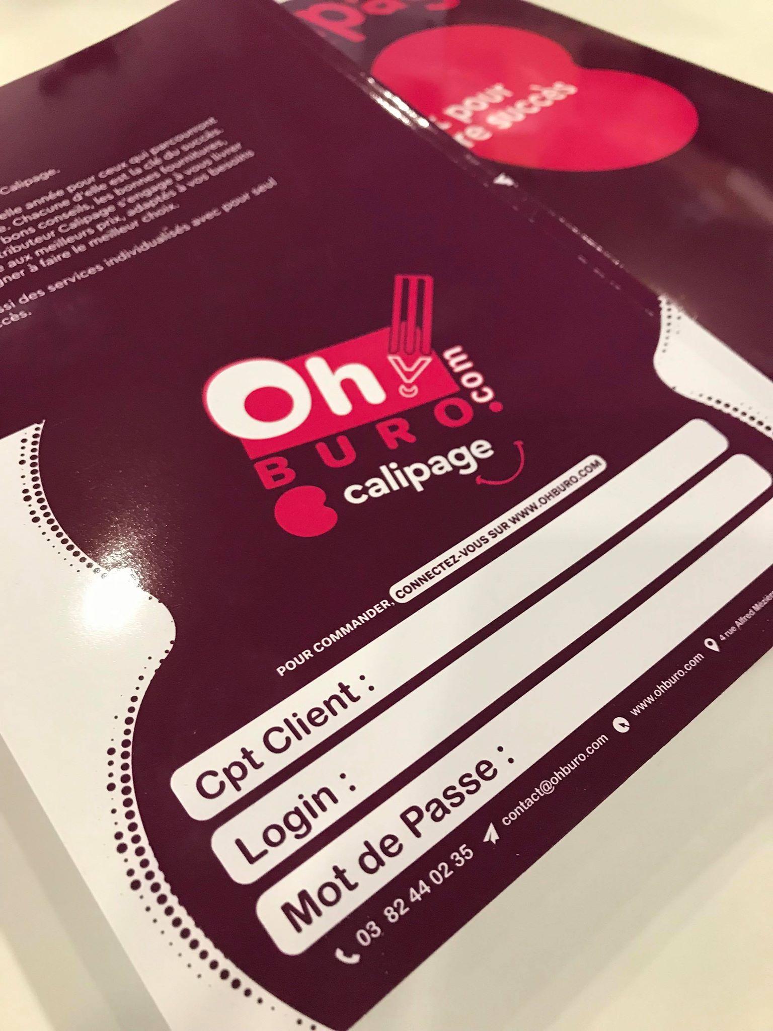Couverture de catalogue Calipage en collaboration avec OhBuro!