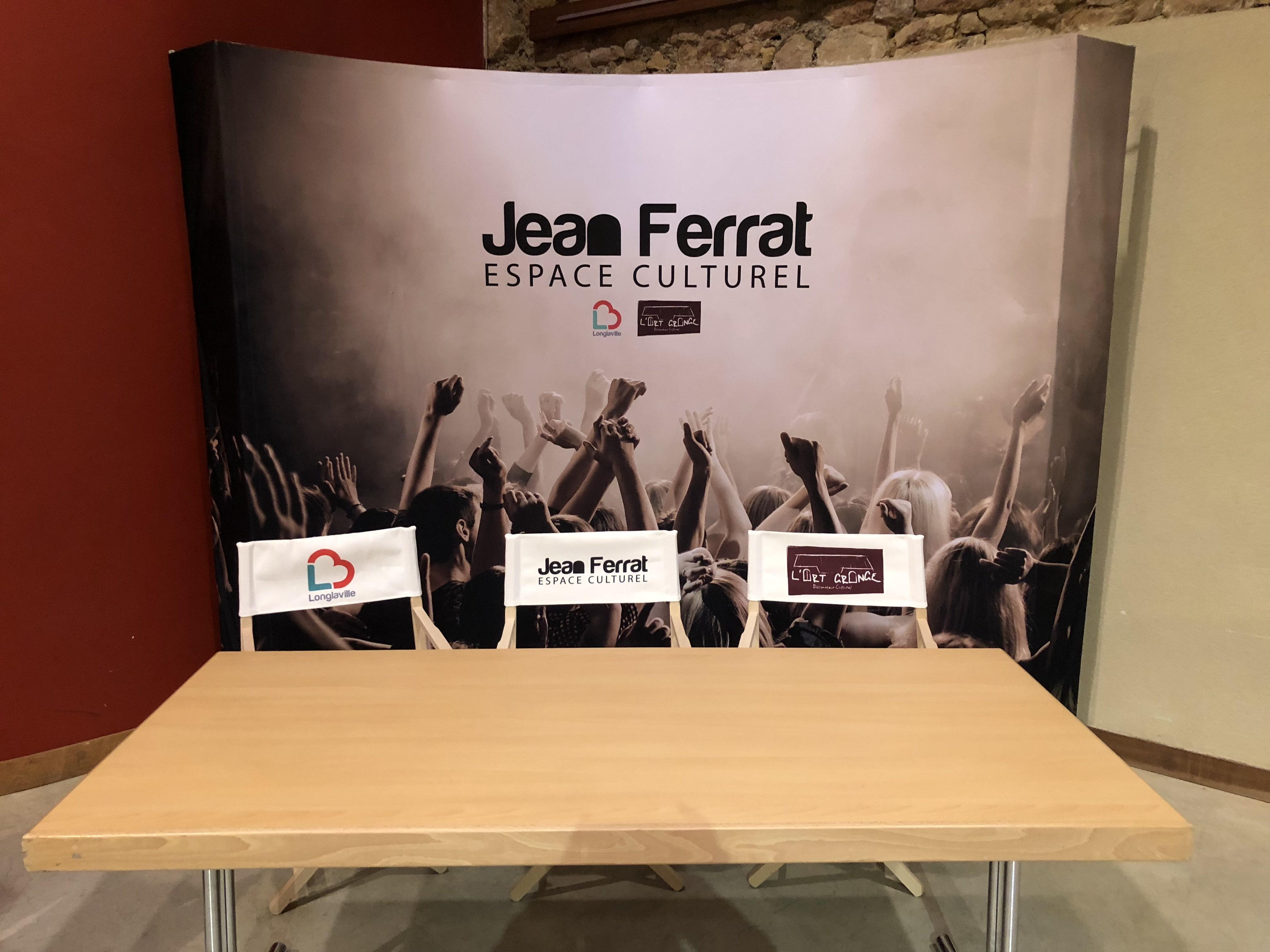 Réalisation de la salle d'accueil de l'espace Jean Ferrat à Longlaville.