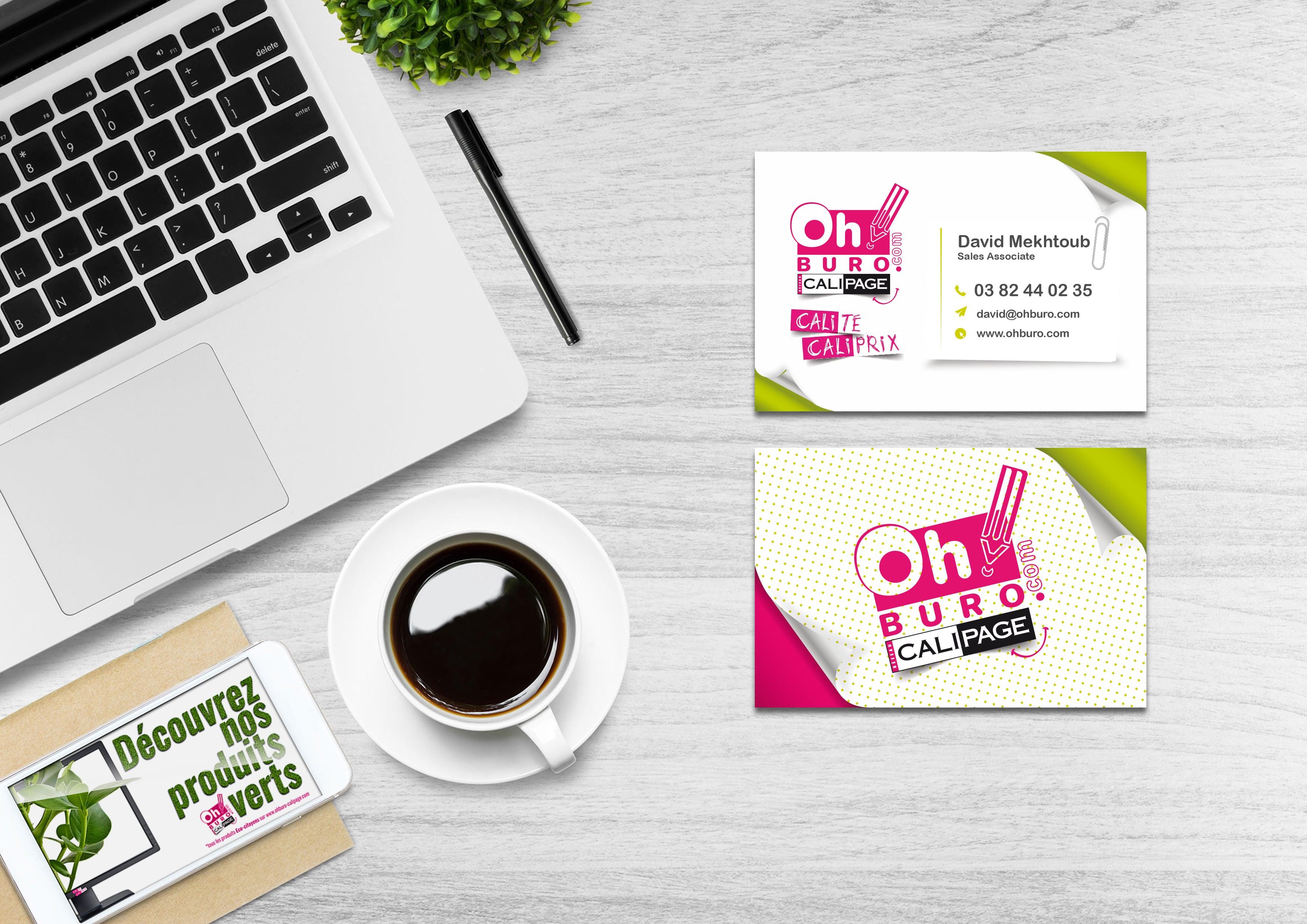 Ohburo -  réalisation des cartes de visites - design et impression
