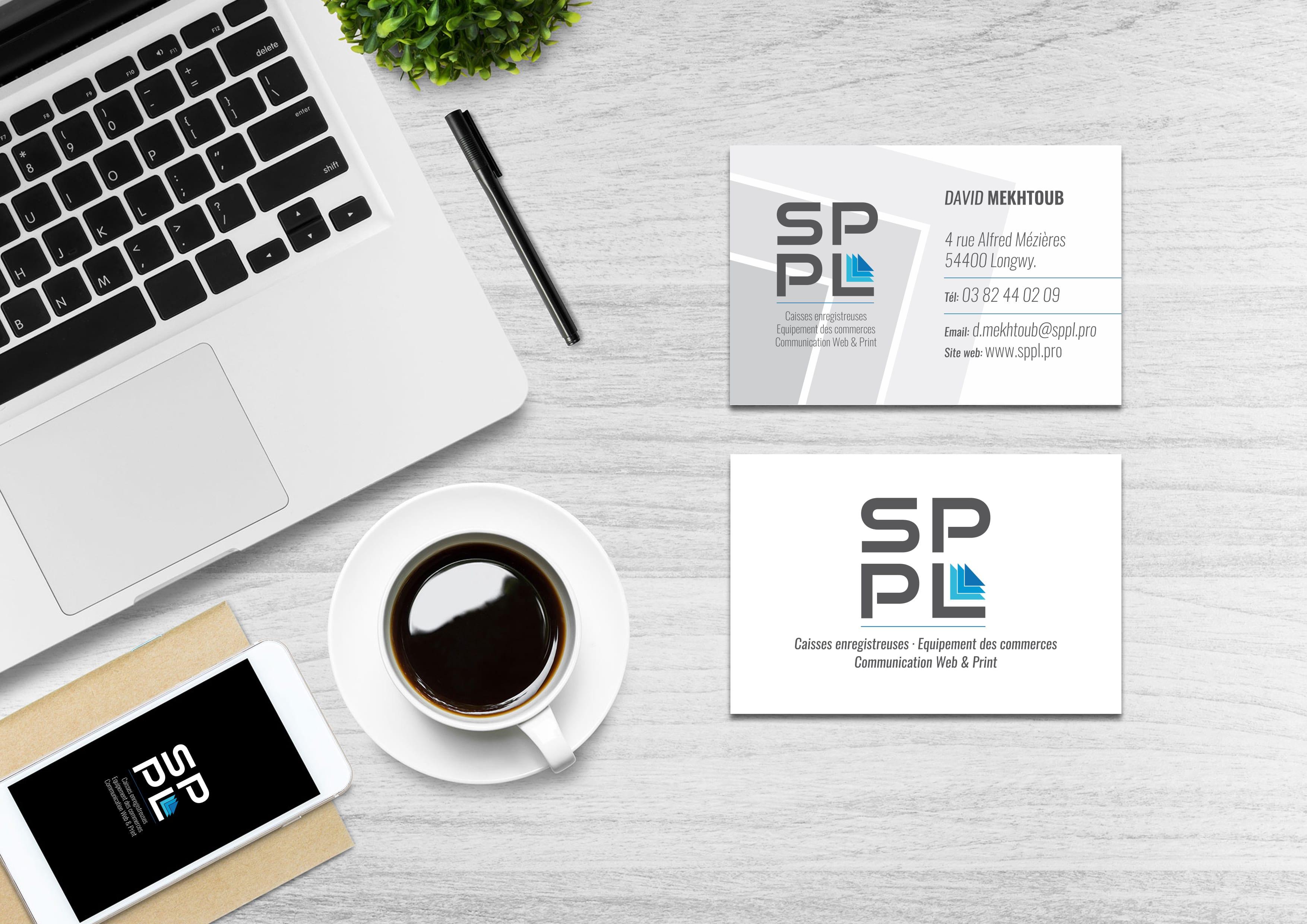 SPPL.pro réalisation des cartes de visites - design et impression