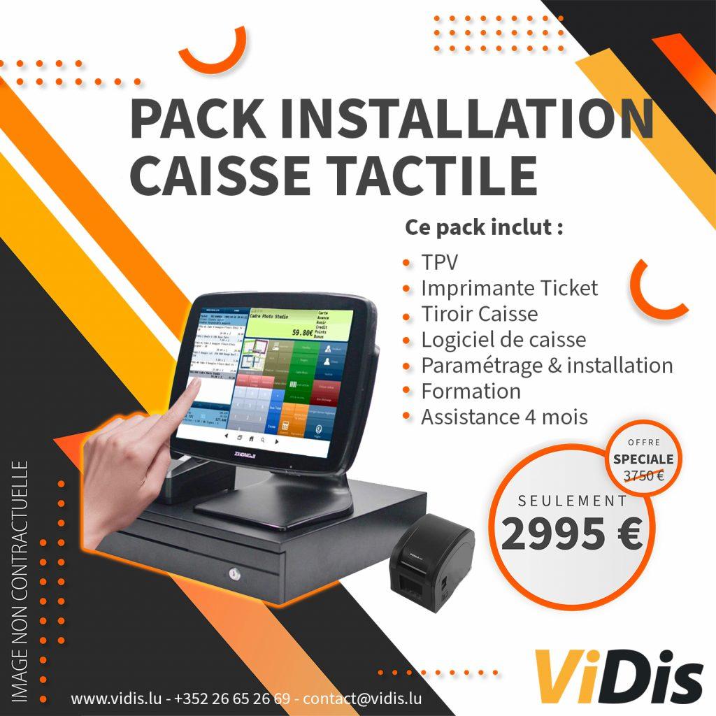 caisse enregistreuse tactile vidis pack offre luxembourg